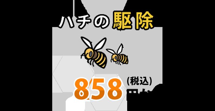 ハチ駆除980円~